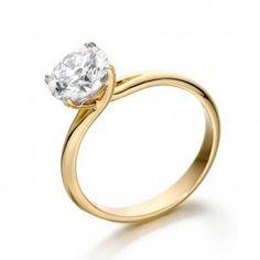 Four Claw Crossover Brilliant Cut Diamond Ring