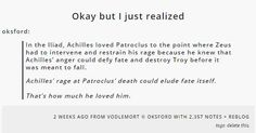 Achilles loved Patroclus so much, it could have changed fate Greek Mythology Humor, Greek And Roman Mythology, Greek Gods, Percy Jackson, Achilles And Patroclus, Greek Memes, Captive Prince, Def Not, Hades And Persephone