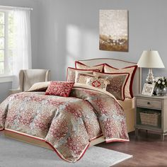 Shop for Bombay Norton Red Comforter Set . Get free shipping at Overstock.com - Your Online Fashion Bedding Outlet Store! Get 5% in rewards with Club O!