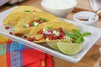 Chef Andrea Nicholson reveals how to eat well and guilt-free with an easy 400 calorie dinner. Chicken Spices, Chicken Recipes, 400 Calorie Dinner, Chicken Tacos, Guilt Free, Eating Well, Main Dishes, Cooking Recipes, Moroccan