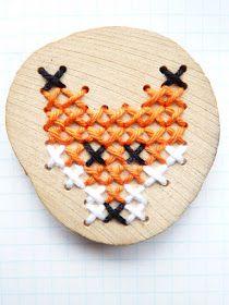 Easy cross stitch fox