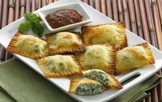 Spinach Ravioli With Won Ton Wrappers | Best #italian Food Recipes for Dinner