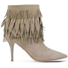 Aquazzura Ankle Boots ($1,005) ❤ liked on Polyvore