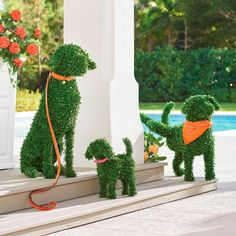 You don't need a country estate or master gardener to enjoy the everlasting charm of our Faux Boxwood Garden Dogs. They don't require grooming or water, and never bark! A simple and playful way to fetch smile after smile in the garden, at an entryway, or Boxwood Landscaping, Boxwood Garden, Topiary Garden, Potager Garden, Landscaping Tips, Garden Art, Landscaping Borders, Landscaping Software, Balcony Garden