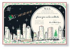 There is no better way to get into the Christmas spirit than to host your own holiday celebration. Our wide assortment of Christmas Party Invitations is sure to immerse you in the festivity that is holiday party planning. Santa And His Reindeer, Christmas Party Invitations, Holiday Parties, Party Planning, Houston, Envelope, Seasons, Cards, Holidays