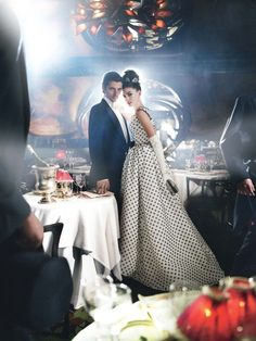 Anne Hathaway and Raphaël Personnaz in 'Happily Ever After', photographed by Mario Testino for Vogue, November 2010.