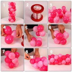 Passo a Passo - Fazendo A Festa: Como Fazer Guirlanda Espiral 3 cores Walkthrough - Making The Party Balloon Decorations Party, Birthday Party Decorations, Baby Shower Decorations, Diy Birthday, Unicorn Birthday, Birthday Parties, Balloon Columns, Balloon Garland, Balloon Arch Diy