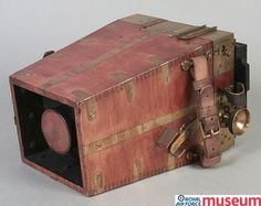 RFC aircraft camera.    A RFC Type A aircraft camera from 1915. Aerial photography played a key role in gathering military intelligence and was used for artillery target spotting and infantry battle planning.