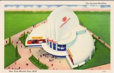 1939 NEW YORK WORLD'S FAIR - THE SEALTEST BUILDING: This unusual building houses exhibits dramatizing the research and quality control supervision of Sealtest System of Laboratory Protection. Demonstration units showing the manufacture of various products are included among its many exhibits. (Grinnell Litho A-27)