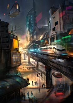 Post with 2547 votes and 136974 views. Tagged with art, storytime, cyberpunk, scienceandtechnology; Cyberpunk City, Cyberpunk Aesthetic, Futuristic City, Futuristic Architecture, Fantasy City, Fantasy World, Future City, Max House, Sci Fi Stadt