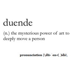 This reminds me of my childhood. - El Duende ❤️   Duende (n.) the mysterious power of art to deeply move a person.