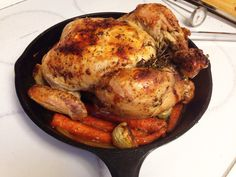 Tender & Juicy Roast Chicken in a Cast Iron Skillet [OC] #food #foodporn #recipe #cooking #recipes #foodie #healthy #cook #health #yummy #delicious