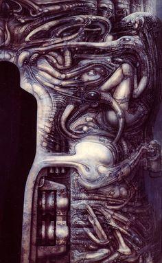 Passage Temple (Entrance) fragment by H.R. Giger (Hans Rüdi Giger) #hrgiger #scifi #sciencefiction #art #surreal #surrealism