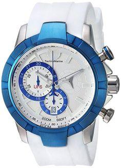 Technomarine TM-615013 Men's Watch UF6 Swiss Chrono Mvt Blue/White