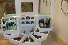 Qvc Makeup Organizer Enchanting Luxury Deluxe Wood Cosmetic Box Wmirrorlori Greiner  Pinterest
