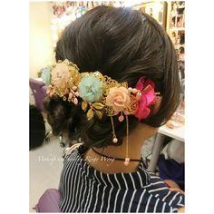 中式頭飾 headpiece Design and handmade by helen  B&H wedding workshop