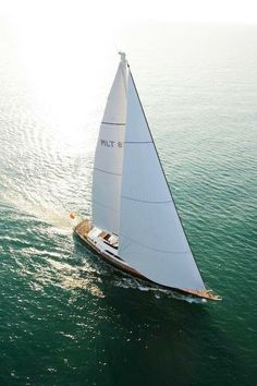Sailing in the sun.