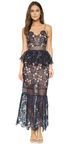 Self Portrait Amarylis Lace Maxi Dress | SHOPBOP