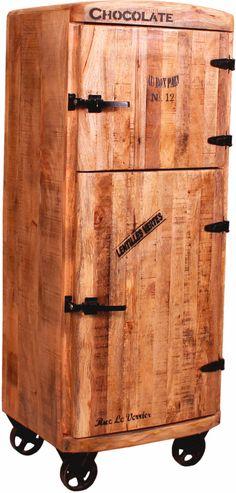 SIT Barschrank »Rustic« beige, FSC®-zertifiziert, SIT-Möbel   Küche und Esszimmer > Bar-Möbel > Barschränke   Print - Schwarz   Recyceltes - Altholz - Metall   SIT-Möbel