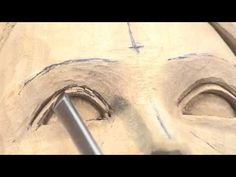 Carving a Female Head - Woodcarving Teaching DVD by Ian Norbury - C . Carving a female head – Woodcarving Teaching DVD by Ian Norbury – clip – Wood Carving Faces, Wood Carving Designs, Wood Carving Patterns, Wood Carving Art, Carving Tools, Stone Carving, Wood Art, Woodworking Images, Female Eyes