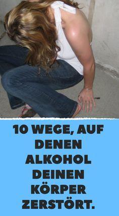 10 Wege, auf denen Alkohol deinen Körper zerstört. #alkohol #gesund #gesundheit #trinken