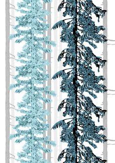 Kuusimetsä, turquoise, design by Riina Kuikka