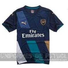 1c88548157e52 Venta de Jersey tercera para uniforme del Arsenal 2015-16 18.5