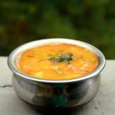 Spring Onions Lentils Soup (Indian Sambar).