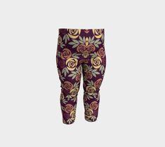 Dark Rose Baby Leggings, Baby Leggings by Brittany Bonnell. Artwork in baby friendly sizes on our printed leggings for your little ones. Harem Pants, Pajama Pants, Shop Art, Baby Leggings, Design Lab, Printed Leggings, Knitted Fabric, Brittany, Little Ones