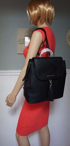 d3f9d750568a90 ... NWT MICHAEL KORS 368 BEDFORD Drawstring Backpack Bag In BLACK Pebbled  Leather 189.95 Michael Kors Bags - 🎉HP🎉MICHAEL KORS Lilac Frankie Md ...