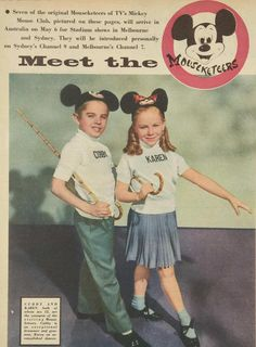 Mickey Mouse Club Ruled, ok Disney Fun, Disney Mickey Mouse, Walt Disney, Mickey Ears, Disney Stuff, Original Mickey Mouse Club, Annette Funicello, Walter Elias Disney, American Bandstand