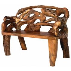 Badland Root Bench | Rustic Cabin Benches | Antlers Etc - Rustic Cabin, Lodge & Hunting Decor