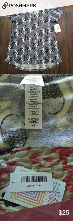 Lularoe classic T XS Brand new never wore cute bird print!☺ LuLaRoe Tops