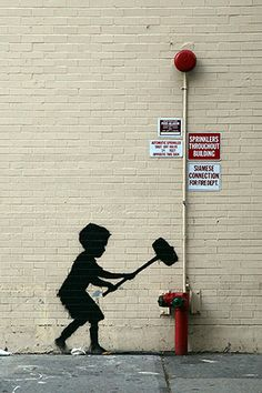 Hammer Boy By Banksy Canvas Print @Romeotees