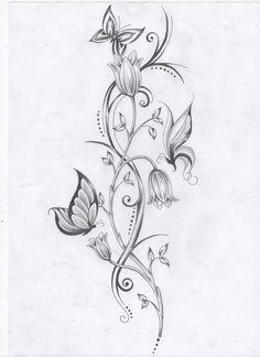 delicate tattoo vine - Google Search