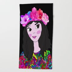 #popart #pop #walldecoration #society6 #society6deco #love #cute #kids #painting #hugs #lovers #yoga #decoracion #up https://society6.com/product/spring-in-the-heart-of-winter-kids-painting_beach-towel?curator=azima