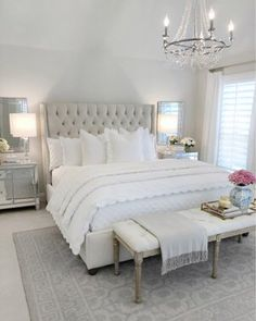 25 Exquisitely Admirable Modern French Bedroom Ideas To Steal. modern french bedroom Check out these fascinating modern French bedroom ideas to bring the style of your home to a whole new level! Master Bedroom Design, Dream Bedroom, Home Decor Bedroom, Bedroom Designs, French Bedroom Decor, Bedroom Decor Elegant, Beds Master Bedroom, French Style Bedrooms, Bedroom Sets