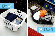 We love, love, LOVE when people bring their clothes to sell us clean & folded in a basket. It helps you get in & out SO MUCH quicker. If clothes are jammed in a bag, wrinkled, inside-out, or dirty, it takes SO long to sort & it's tough to see how good the quality is. #cashonthespot | www.platosclosetbarrie.com