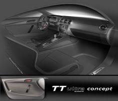 Audi TT ultra quattro concept - Interior Design Sketch
