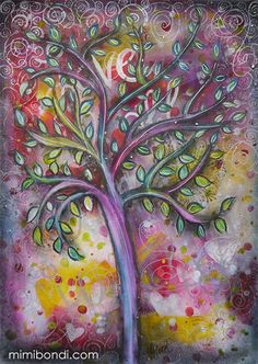 Love is All Around - mixed media by Mimi Bondi