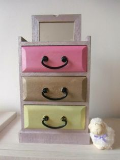 Jewelry box Floating Nightstand, Jewelry Box, Shelves, Table, Furniture, Home Decor, Floating Headboard, Jewellery Box, Jewel Box