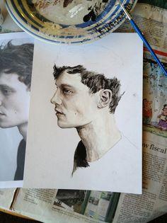 matt hitt painting in progress