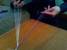 How to do 5 finger loop braid Lucet, Finger Weaving, Braided Friendship Bracelets, Weaving For Kids, 5 Fingers, Thread Bracelets, String Theory, Braids With Weave, Diy Craft Projects