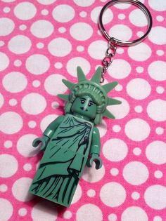 Lego Statue of Liberty Keychain