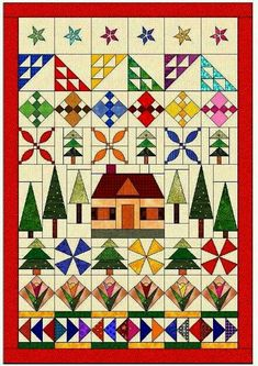 Quilt Pattern row by row - style.