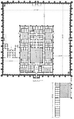 Planta del Palacio de Ujaydir (Irak), S.VIII.