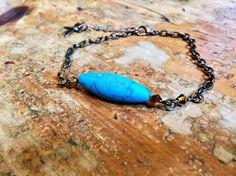 Turquoise blue bracelet boho bracelet summer bracelet chain bracelet uk shop uk seller bohemian bracelet by YouHadMeAtBoho on Etsy Arm Bracelets, Summer Bracelets, Bohemian Bracelets, Boho Jewelry, Vintage Jewelry, Handmade Jewelry, Unique Jewelry, Etsy Handmade, Etsy Jewelry