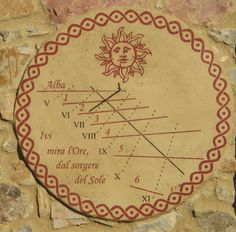 Time Clock, Sundial, Fresco, Solar, Mosaics, Google, Image, Home, Clocks