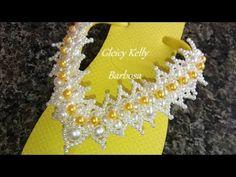 Chinelo bordado com pérolas estilo florzinhas Passo 2 - YouTube