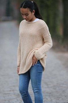 Oversized Chunky Knit Sweater  Soft Merino Wool Knit Sweater Chunky Knit Cardigan, Merino Wool, Hand Knitting, Pullover, Trending Outfits, Sweaters, Vintage, Etsy, Fashion